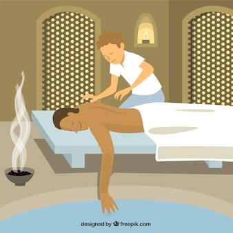 Ilustración masaje relajante