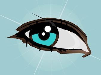 Ilustración mujer ojo azul