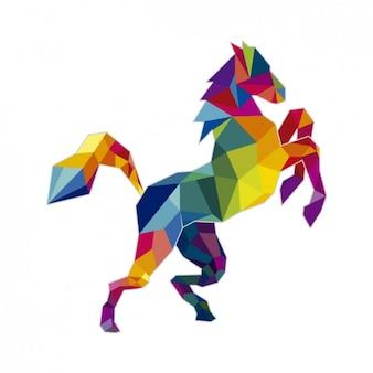 Ilustración poligonal de un caballo
