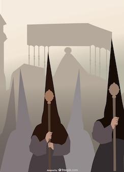 Ilustración religiosa Semana Santa