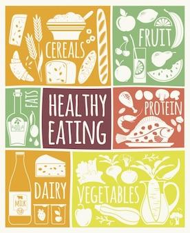 Ilustración sana alimentación