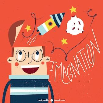 Ilustración soñar con ser un astronauta