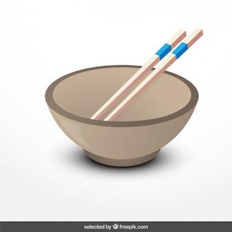 Ilustración tazón chino