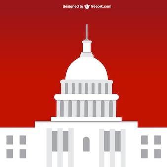 Ilustración vectorial de la Casa Blanca