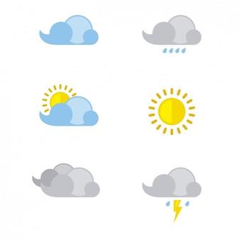 Ilustración vectorial de previsión de tiempo