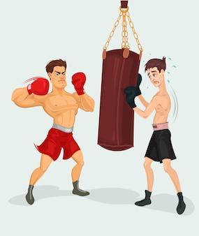 Ilustración vectorial de un boxeador