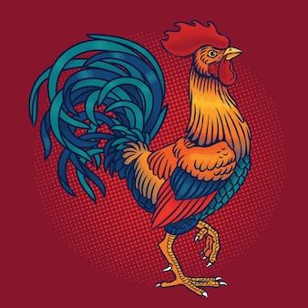 Ilustración vectorial de un gallo