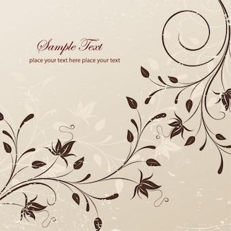 Ilustración vectorial floral