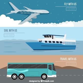 Ilustración viaja con nosotros