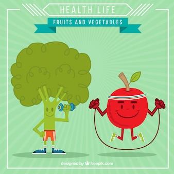 Ilustración vida saludable