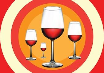 Ilustración vino tinto