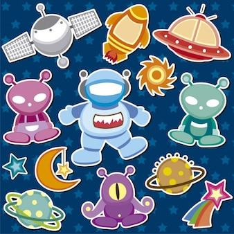 Ilustraciones de elementos del espacio