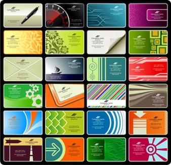 ilustraciones de papel de tarjetas de negocios