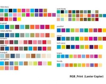 ilustraciones de valores RGB carta de colores