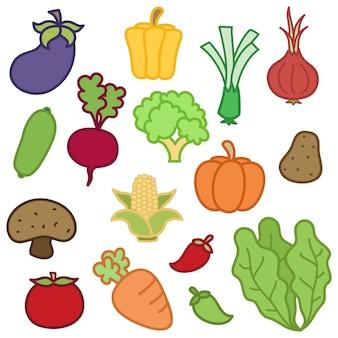 Ilustraciones de verduras