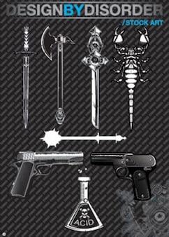 ilustraciones vectoriales asesino herramienta
