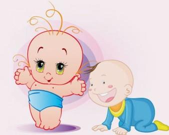 ilustraciones vectoriales bebé
