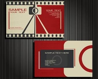 ilustraciones vectoriales para tarjetas de visita