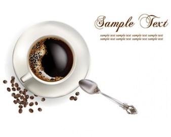 ilustraciones vectoriales taza de café