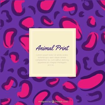 Impresión púrpura y rosa leopardo