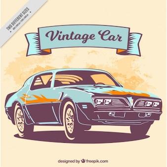 Increíble coche vintage, fondo