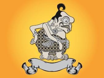Indonesia hombre extraño cinta logo