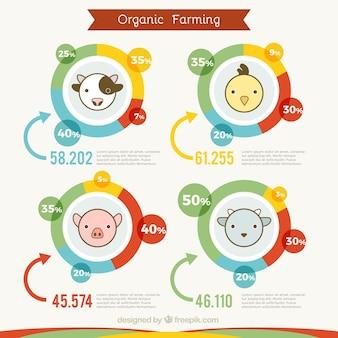 infografía agricultura ecológica linda con los animales
