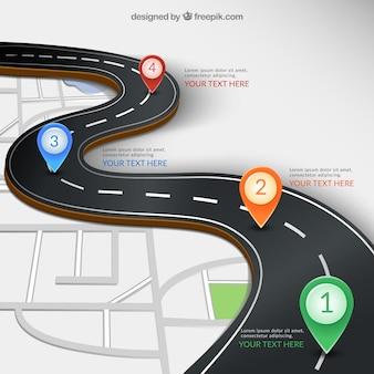 Infografía carretera
