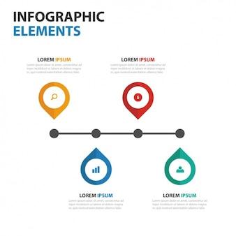 Infografía colorida con diferentes pasos