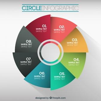 Infografía colorida de circulo