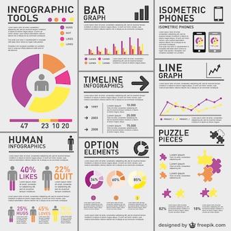 Infografía compleja de estadísticas