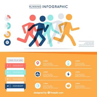 Infografía con diseño de running