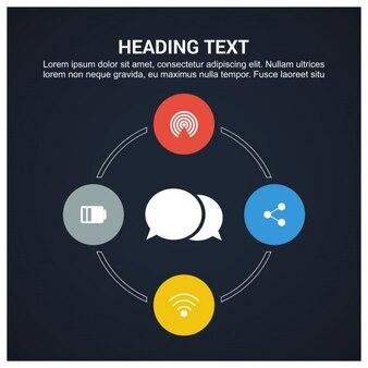 Infografía con opciones, forma circular