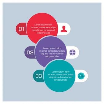 Infografía con opciones, formas circulares