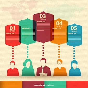 Infografía con siluetas de gente