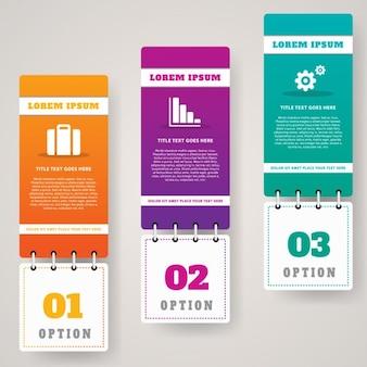 Infografía con tres banners