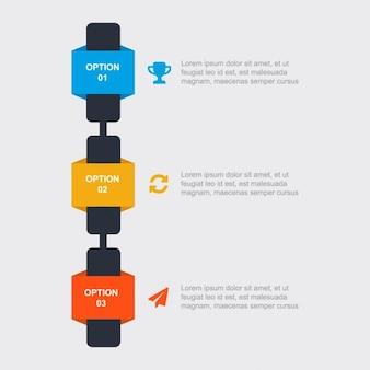 Infografía con tres colores