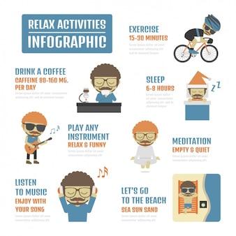 Infografía de actividades de relax