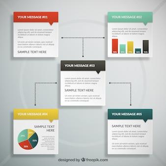 Infografía de cajas de texto