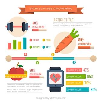 Infografía de deporte y fitness
