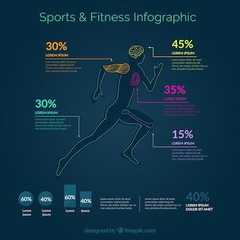 Infografía de fitness y deporte