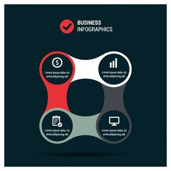 Infografía de negocios elegante