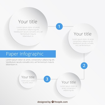Infografía de papel