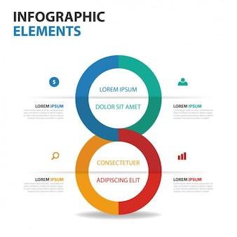 Infografía geométrica en estilo minimalista