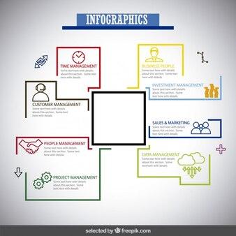 Infografía negocio colorido