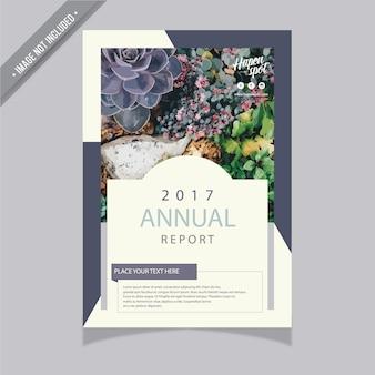 Informa anual con diseño vintage