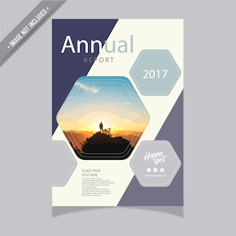 Informe anual con diseño elegante