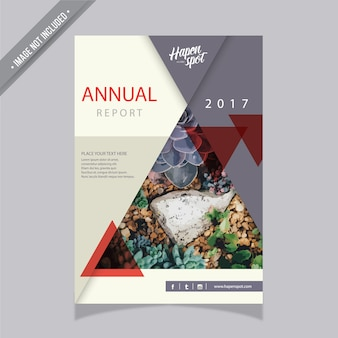 Informe anual con diseño geométrico
