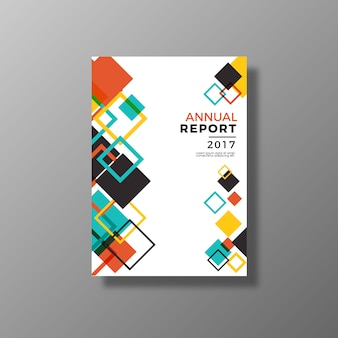Informe anual con diseño multicolor