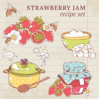 Ingredientes de mermelada de fresa